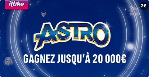 le jeu de grattage ASTRO et ses 20 000 €