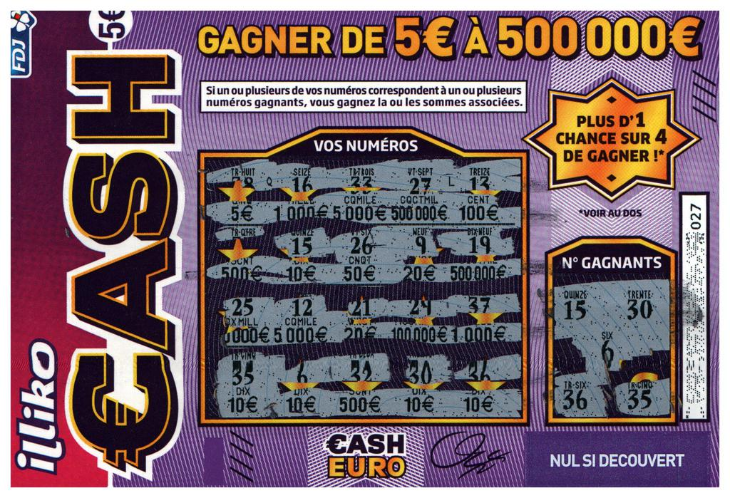 ticket cash gratté