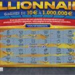 Ticket à gratter millionnaire en euros
