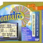 vieux ticket millionnaire en francs