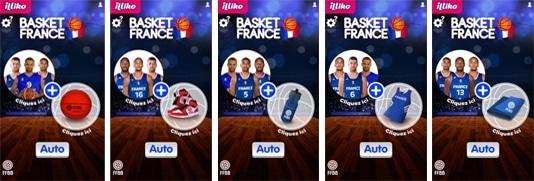 Jeu de grattage EURO de Basket 2015