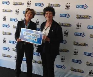 isabelle autissier et fdj WWF solidaires