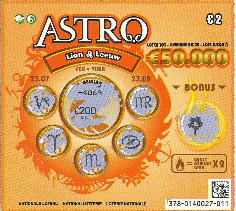 jeu à gratter astro en belgique
