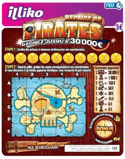 jeu-à-gratter-Repaire-de-Pirates-FDJ-illiko