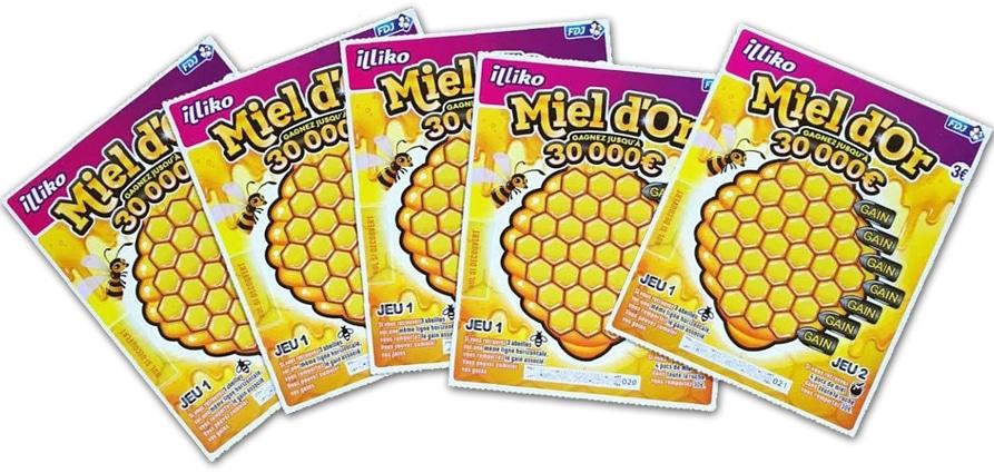 le-ticke-tà-gratter-miel-d'or--fdj-inspiré-par-la-ruche-d'or