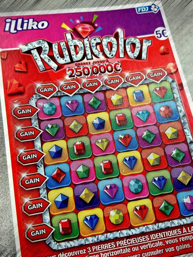 nouveau ticket rubicolor FDJ arbore le thème de la fortune
