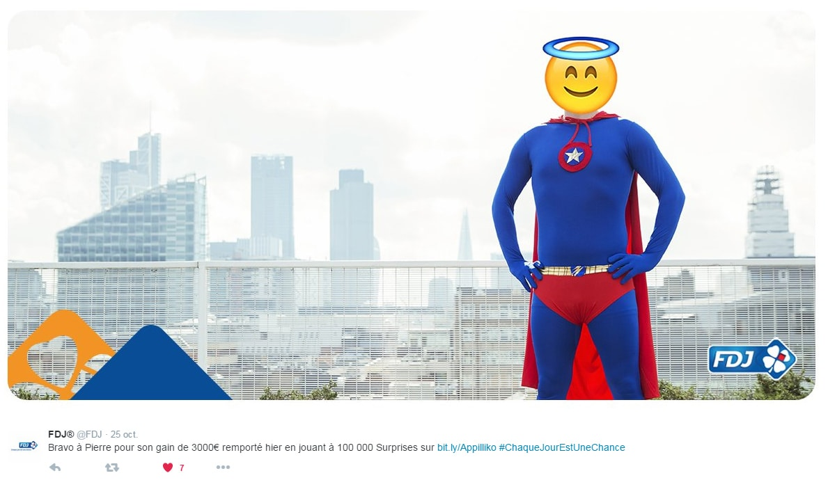 image twitter d'un gagnant aux jeux illiko en ligne : 100 000 surprises