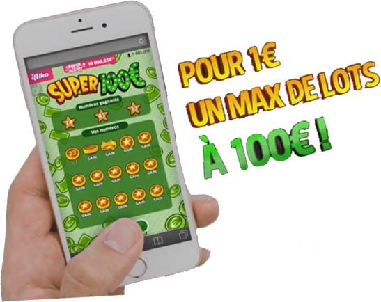 Une des nouveautés illiko Super Jackpot : Super 100 €
