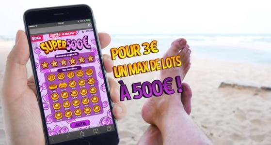 Super 500 s'invite sur smartphone - jeu à gratter en ligne