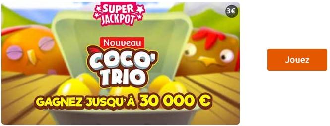 jouer au jeu super jackpot coco trio