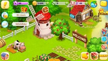 Le jeu Super Ferme, un jeu Facebook