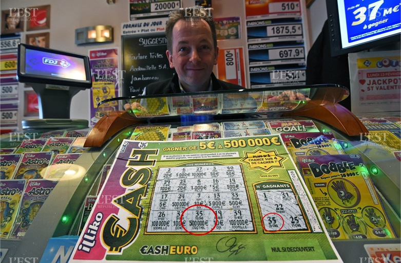 Photo d'un ticket Cash gagnant à 500 000 €