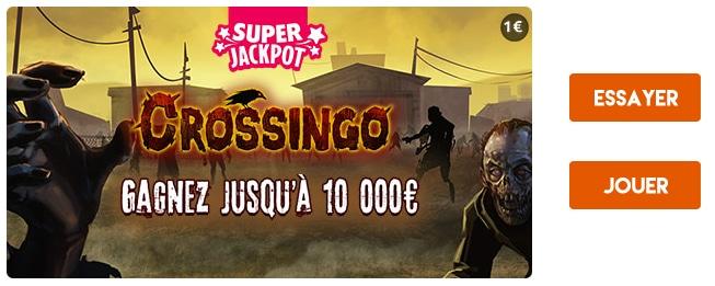 Essayer de gagner 10 000 € à Crossingo