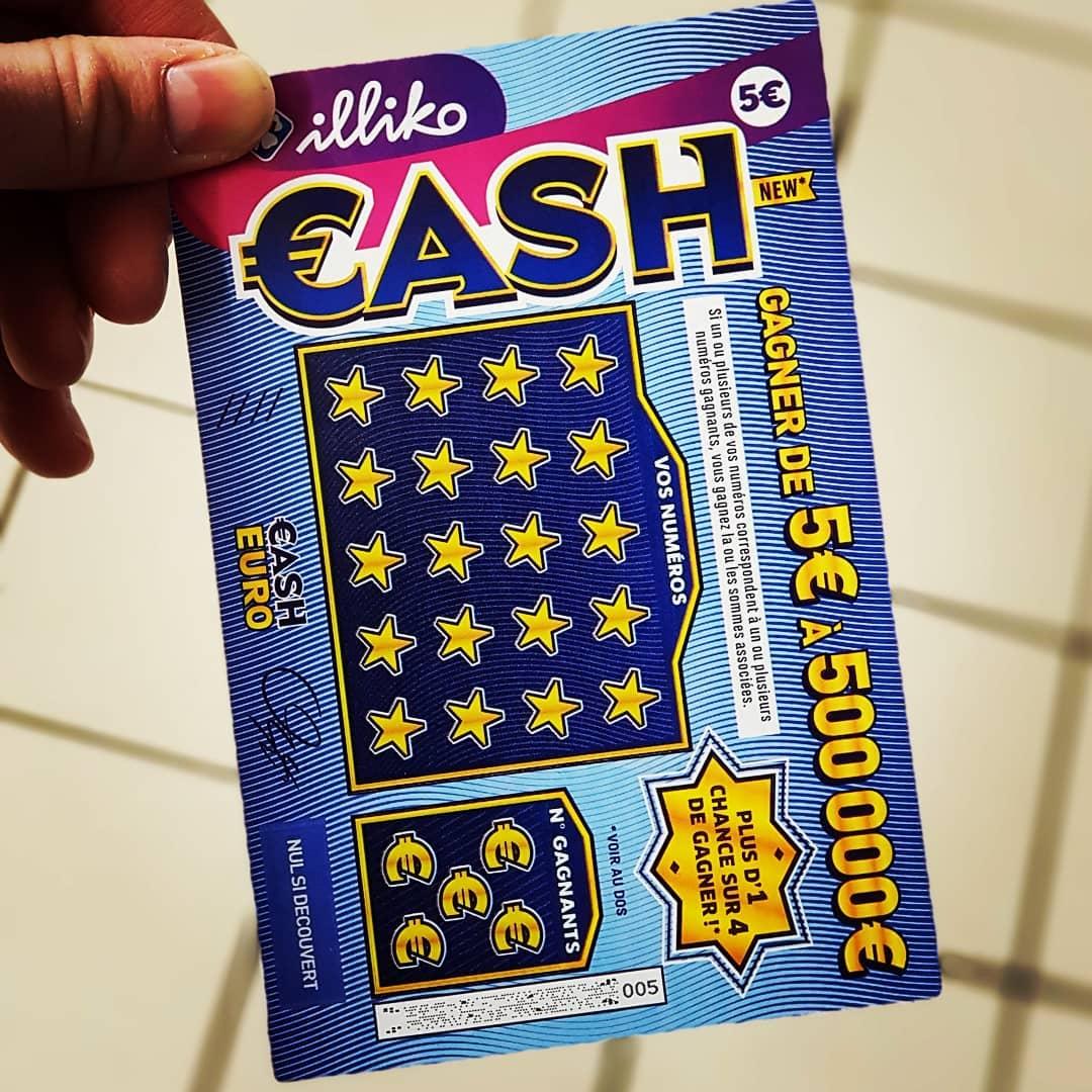 Le tout nouveau ticket à gratter cash 2018