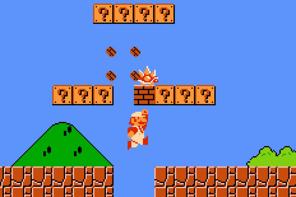cubes du jeu PIXEL AVENTURE. Le jeu Super Mario Bros Nes.