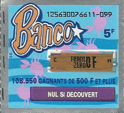 Un BANCO perdant de 1996