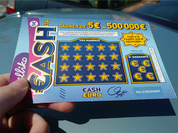 jeu de grattage CASH version 2008