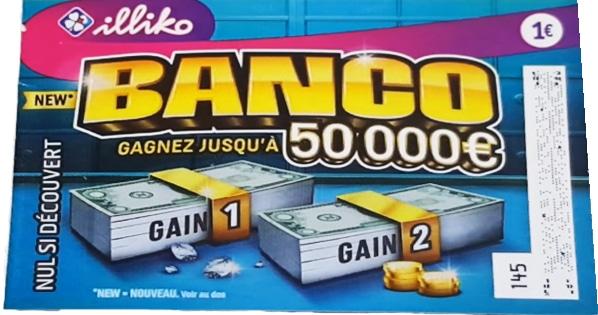 nouveau Banco ticket à gratter qui offre désormais le gain de 50 000 € pour un prix de 1 €