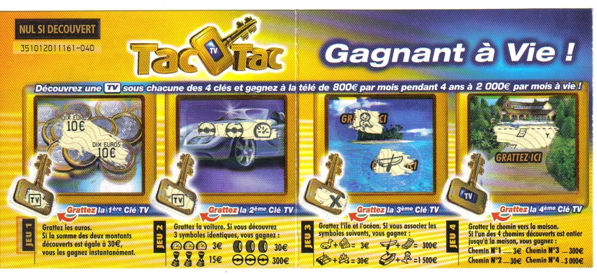Relancer le ticket TAC O TAC 2003