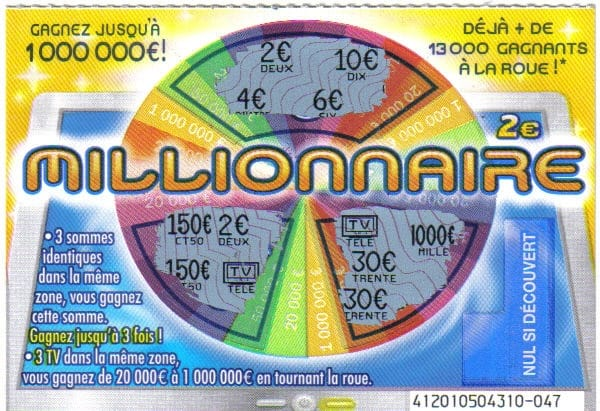 Jeux à gratter millionnaire à 2 €