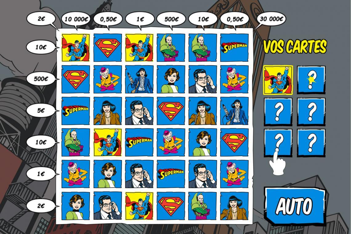 Règles du jeu SUPERMAN illiko FDJ