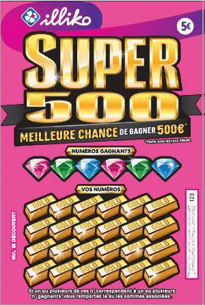 SUPER 500 : le nouveau ticket à gratter FDJ