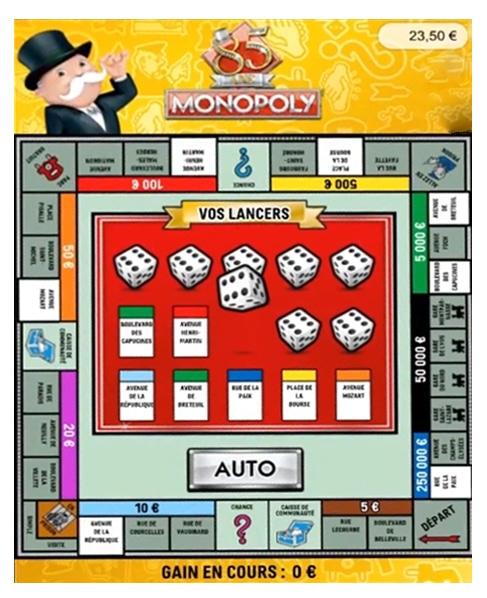 Jeu à gratter Monopoly en ligne