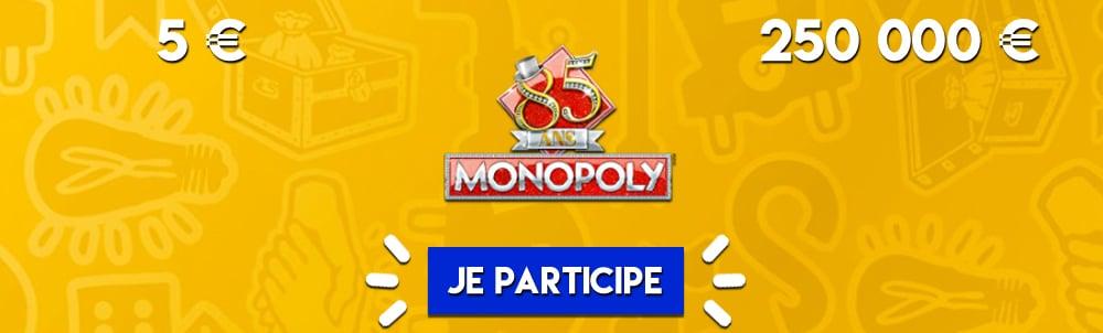 Le ticket gratter Monopoly de la FDJ