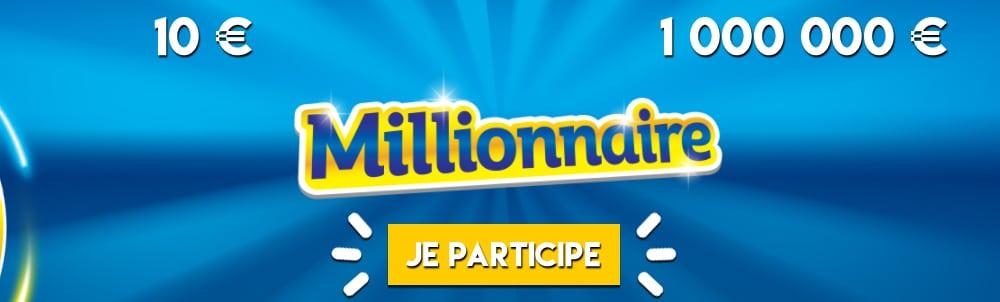 jeu à gratter Millionnaire liste